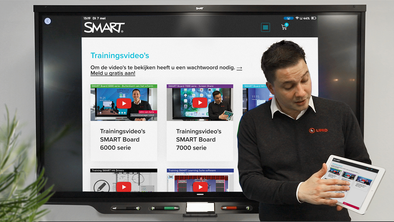 Videoportal trainingsvideo SMART Board producten handleiding uitleg