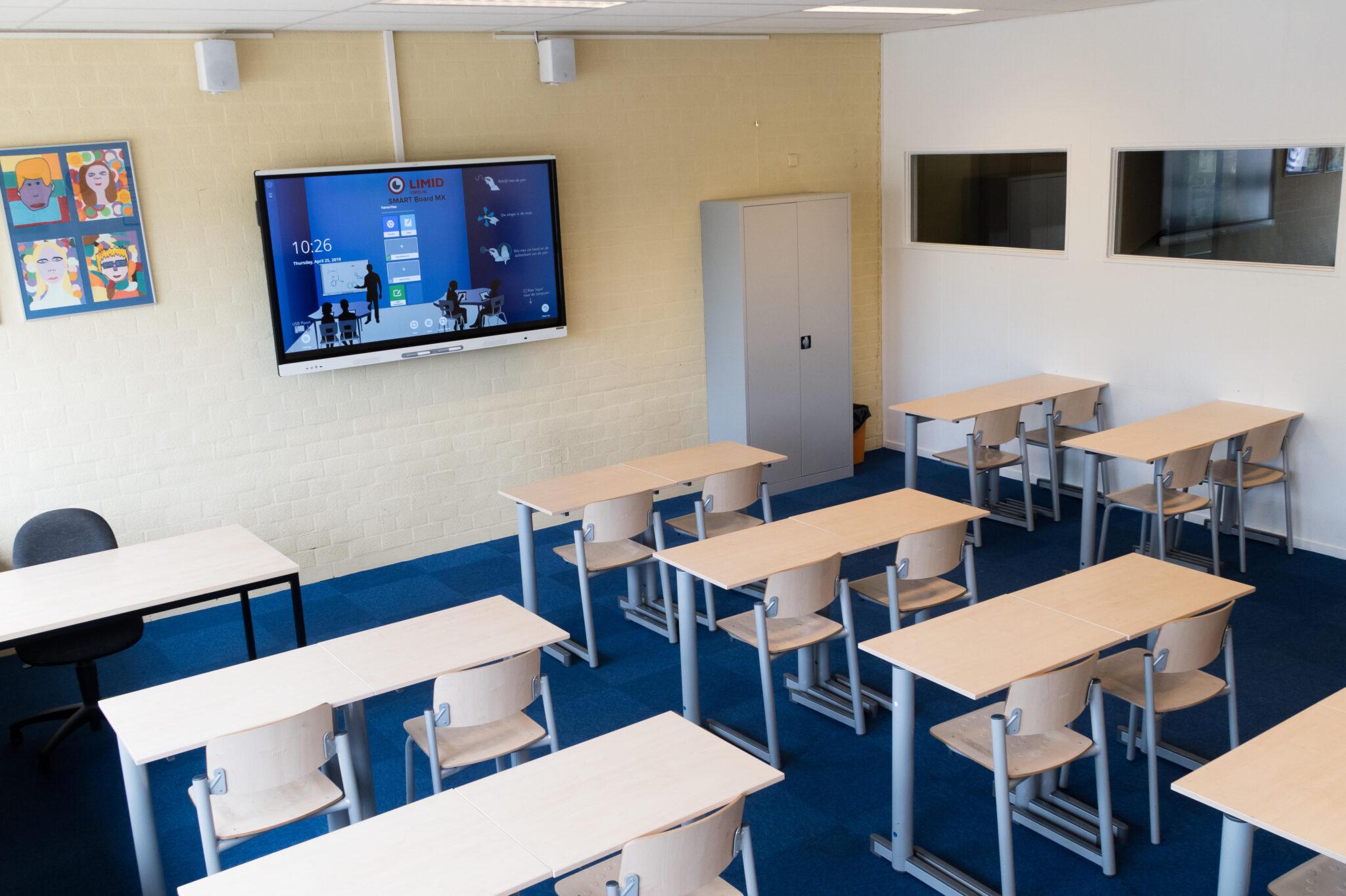 smart board mx in klaslokaal