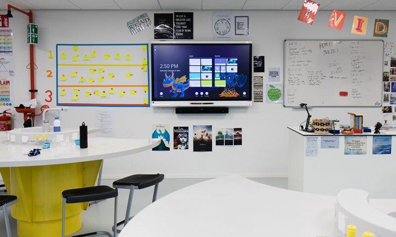 klaslokaal scheikundelokaal smart board
