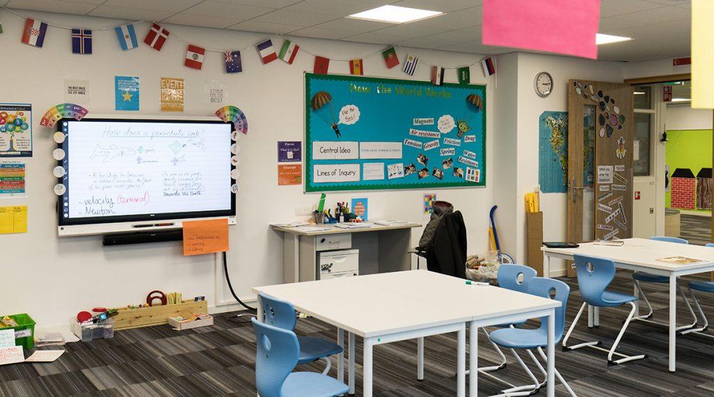 klaslokaal smart board amity